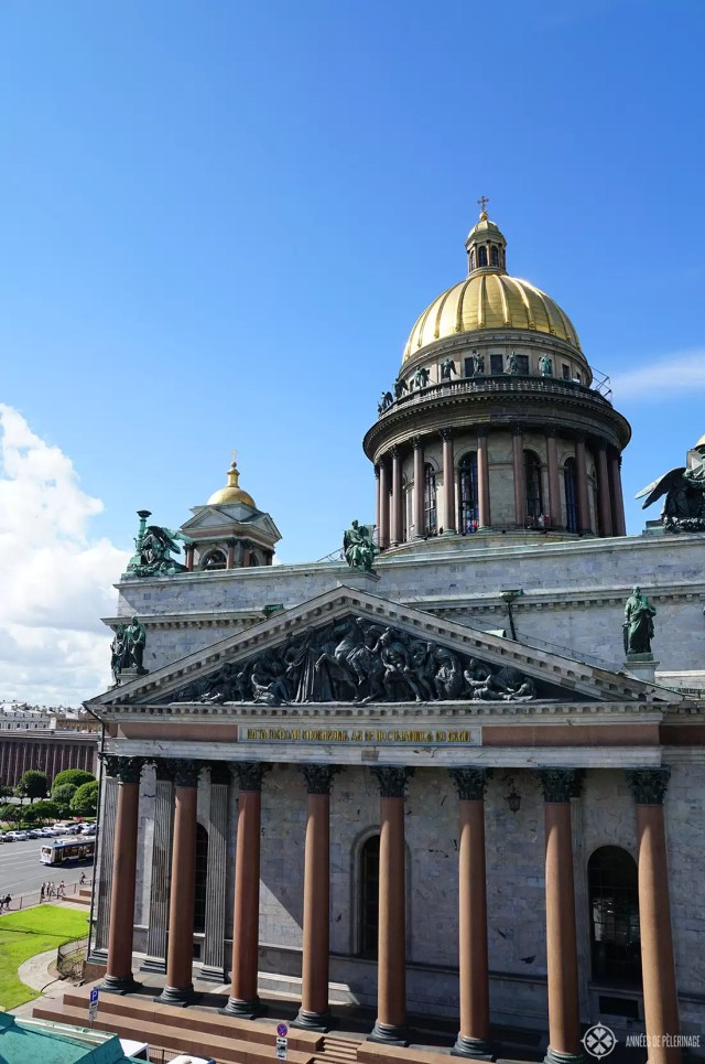 St. Isaac's Cathedral in St. Petersburg Russia