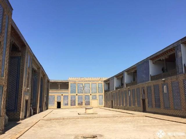 A courtyard with 4 harems in the Tash-Kauli Palace in Khiva, Uzbekistan