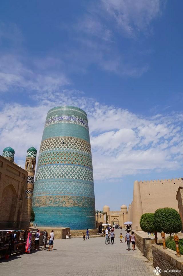 The Kalta Minor Minaret in Khiva, Uzbekistan