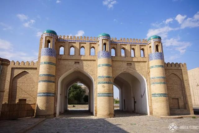 The outer city gates of Khiva, Uzbekistan (Qosh Dravoza)