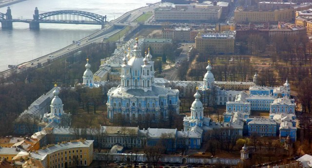 Smolny Convent in St. Petersburg from above