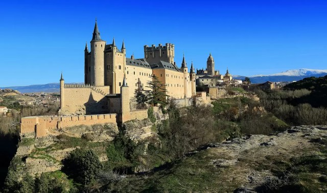 The ancient castle in Segovia, just a short day trip away from Madrid