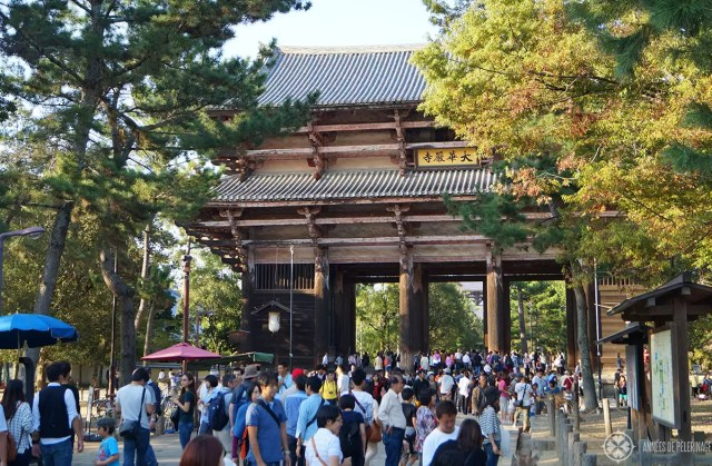 The great South Gate of The Todai-ji temple in Nara, Japan