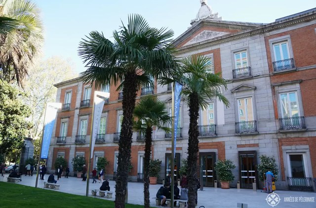 The Thyssen-Bornemisza Museum in Madrid Spain - one of top tourist attaction in the city