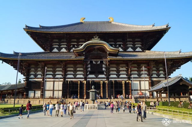 The gigant Todai-ji temple in Nara, Japan