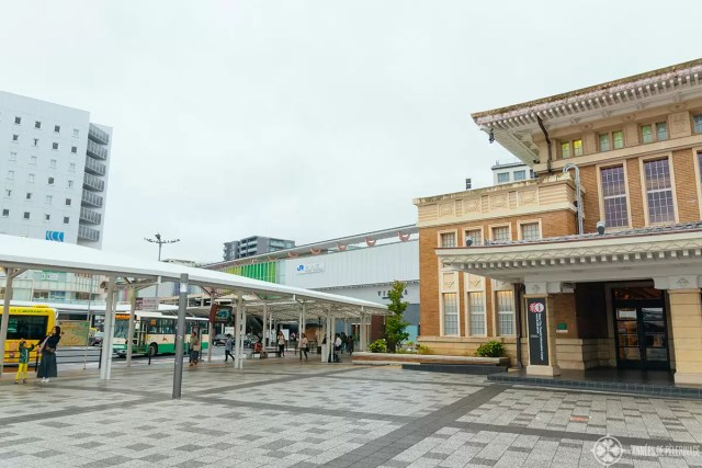Bus terminal in front of Nara Station