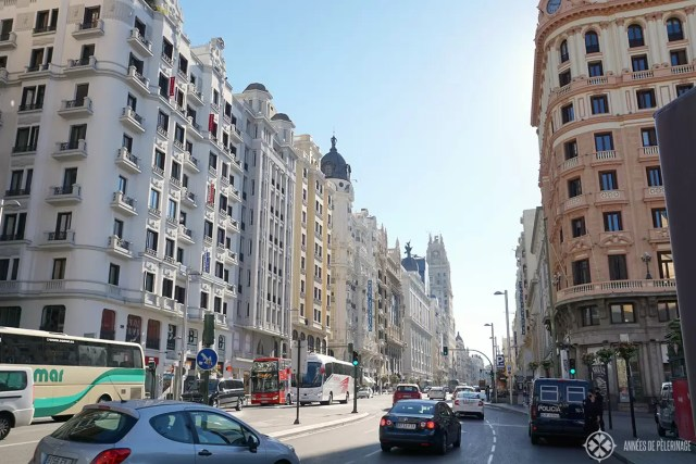 The Grand Via in Madrid, Spain. THe perfect place to go shopping or see a musical