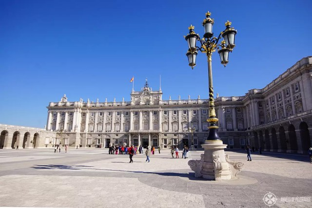The courtyard of the Royal Palace in Madrid, Spain