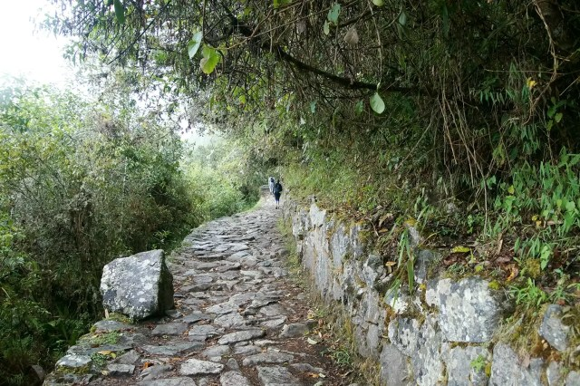 The last stretch of the classical Inca Trail from Cusco to Machu Picchu