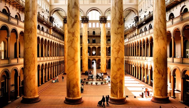 The great Hall of the National Building Museum Washington DC