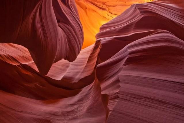 Rock formation inside Lower Antelope Canyon, Arizona