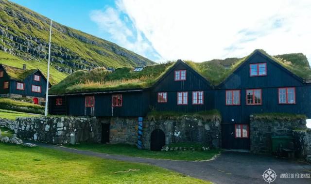 The ancient wooden house of Kirkjubøargarður in the Faroe Islands