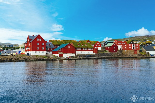 The old town of Tórshaven, the capital of the Faroe Islands