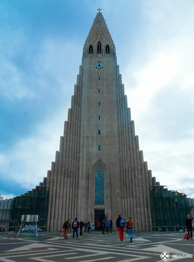 Hallgrimskirkja in Reykjavik's city center