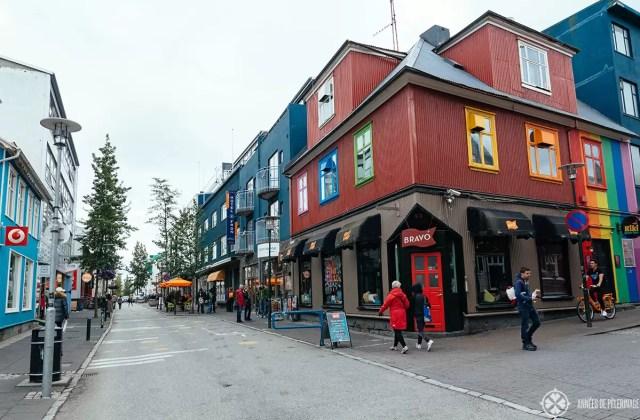 laugarvegur reyjkavik main shopping street