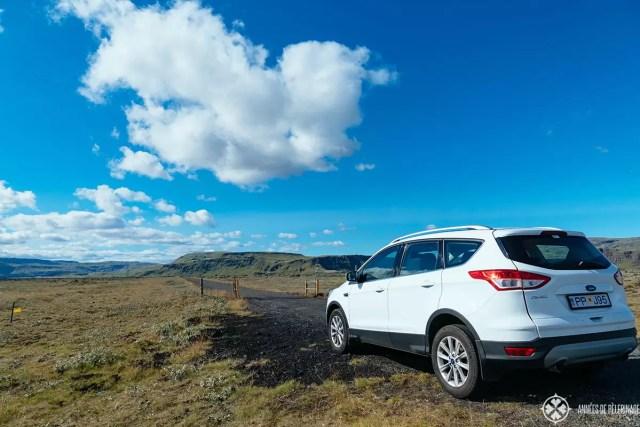 taking the F-Road from reykjavik to akureyri iceland