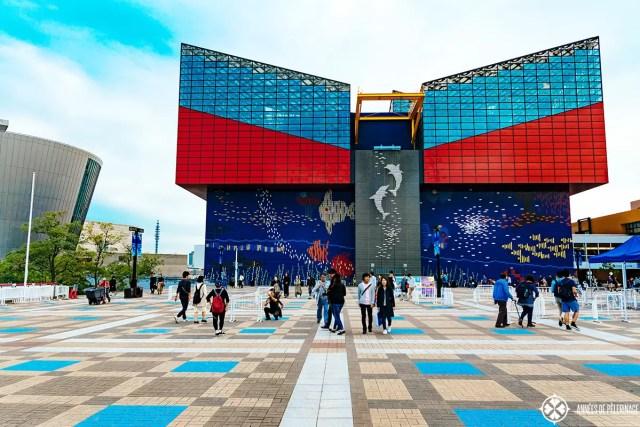 The Osaka Aquarium called Kaiyukan from outside
