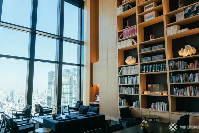 The libary in a little wing off the Lobby of the Aman Tokyo