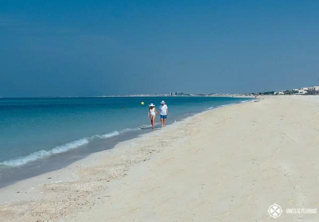 The long curving beach of Saadiyat Island Abu Dhabi