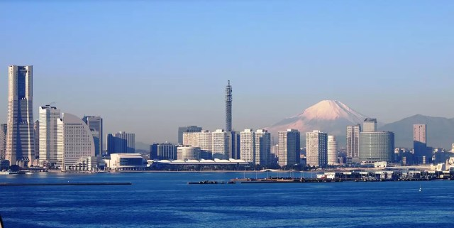 Skyline of Yokohama only a short day trip form Tokyo away
