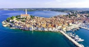 the old town of Rovinj in Istria, Crotia