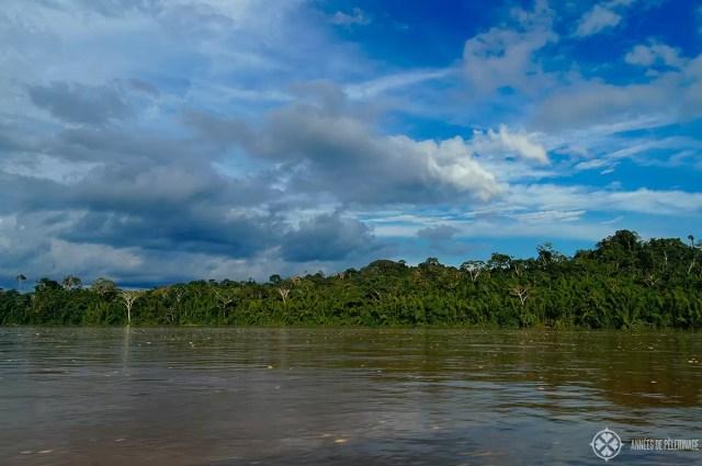 The mighty Amazon river in Ecuador