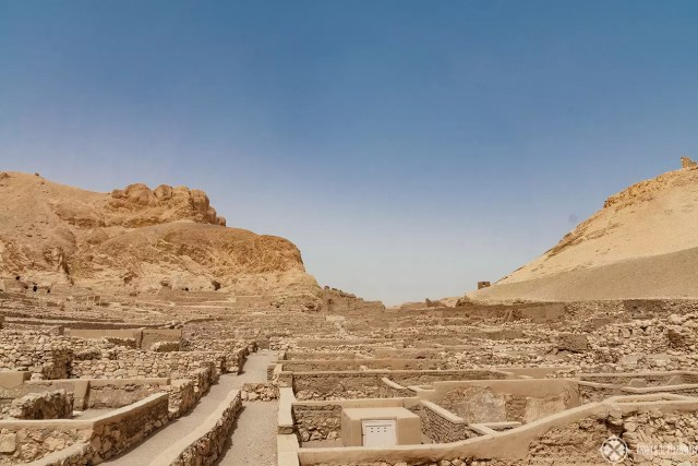 The village of Deir el-Madina near the valley of the kings on the westbank of Luxor
