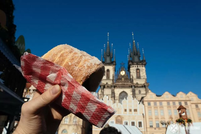 Trdelník pastry in Prague, Czech republic