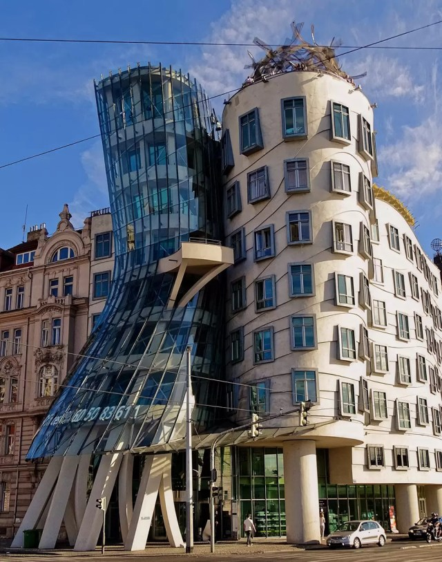 The Dancing House in the old town of Prague Czech republic