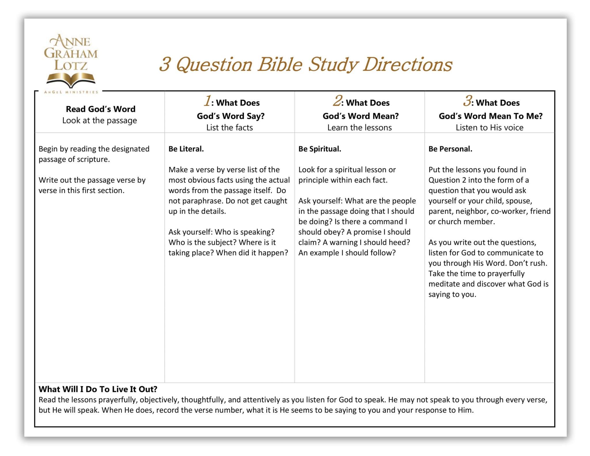 Blank Bible Study Worksheet