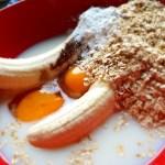 Hverdagsvaffel med banan