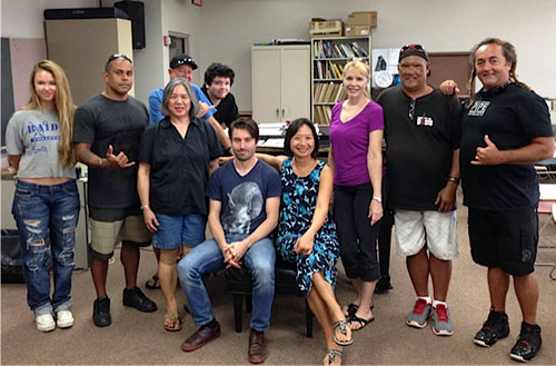 Dan Tepfer visits UH Maui College Piano Class, Fall 2013