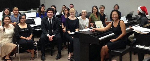 Students and guests at the Piano Class Recital, Dec 18, 2013 Maui College