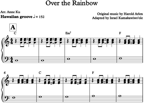 musica somewhere over the rainbow israel kamakawiwo