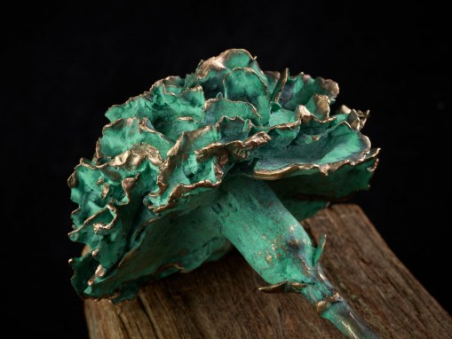 Carnation bronze green patinated