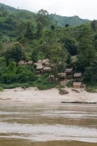 Dorpje aan de Mekong