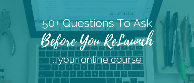 Relaunch Your Online Course