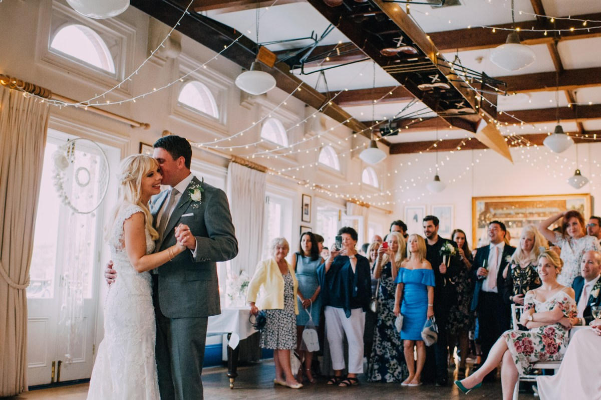 first dance under fairy lights at london rowing club