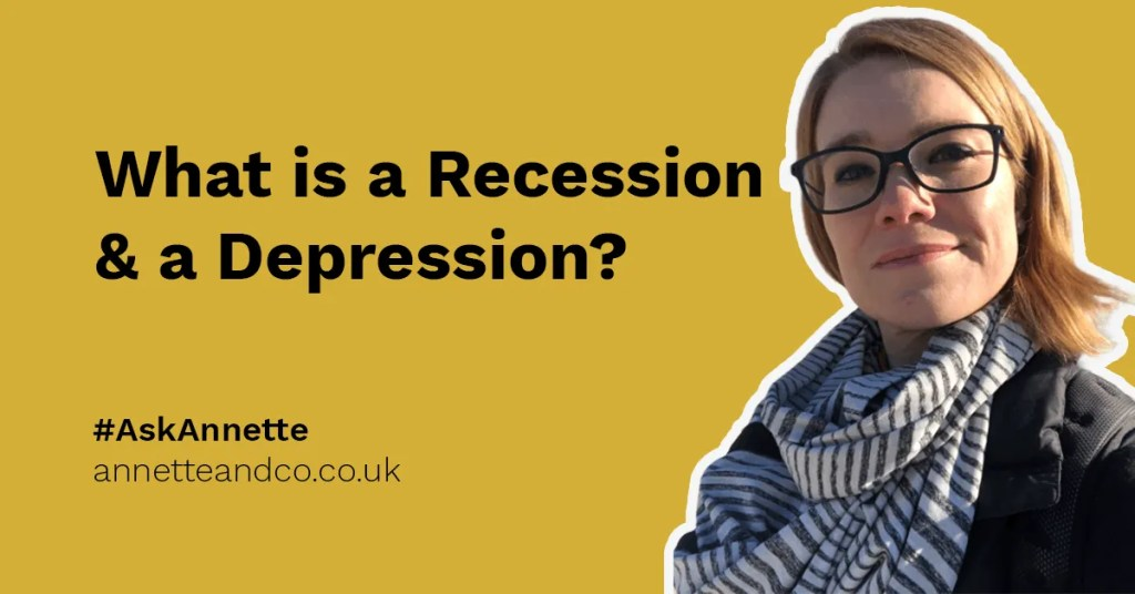 blog post featured image highlighting the topic of what is a recession and a depression