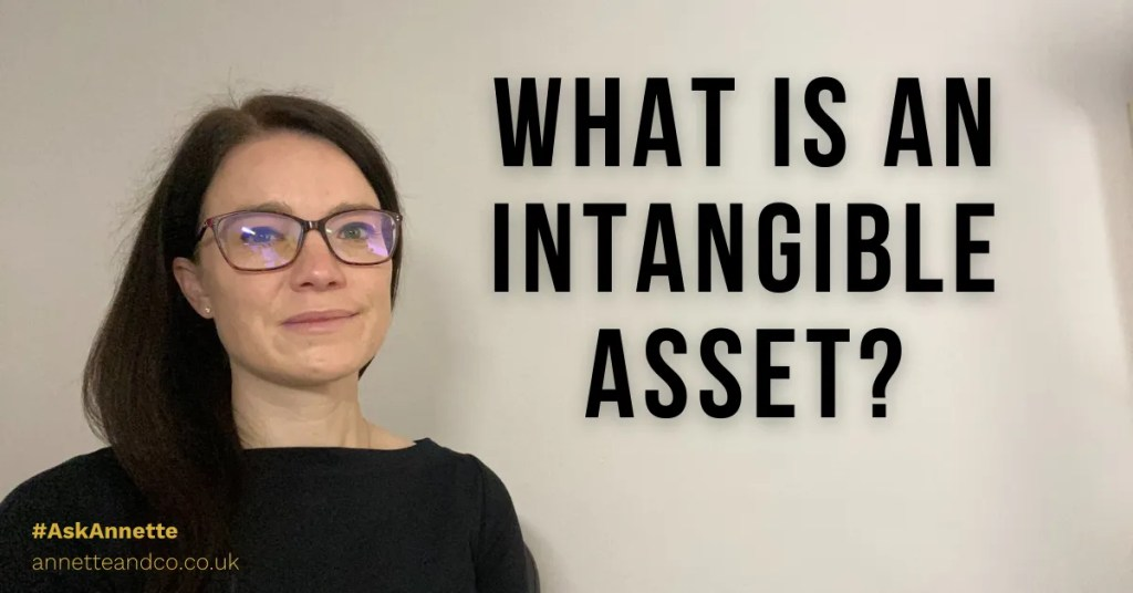 a blog featured image entitled what is intangible asset with Annette