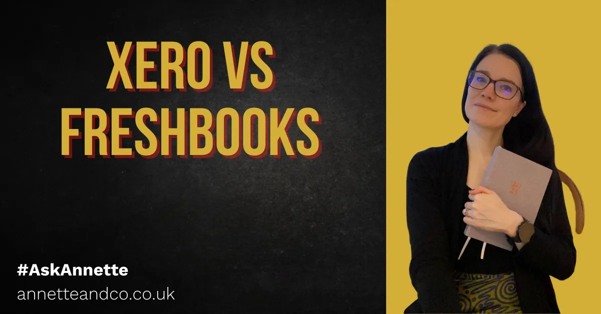 a blog featured image with a topic about Xero vs Freshbooks