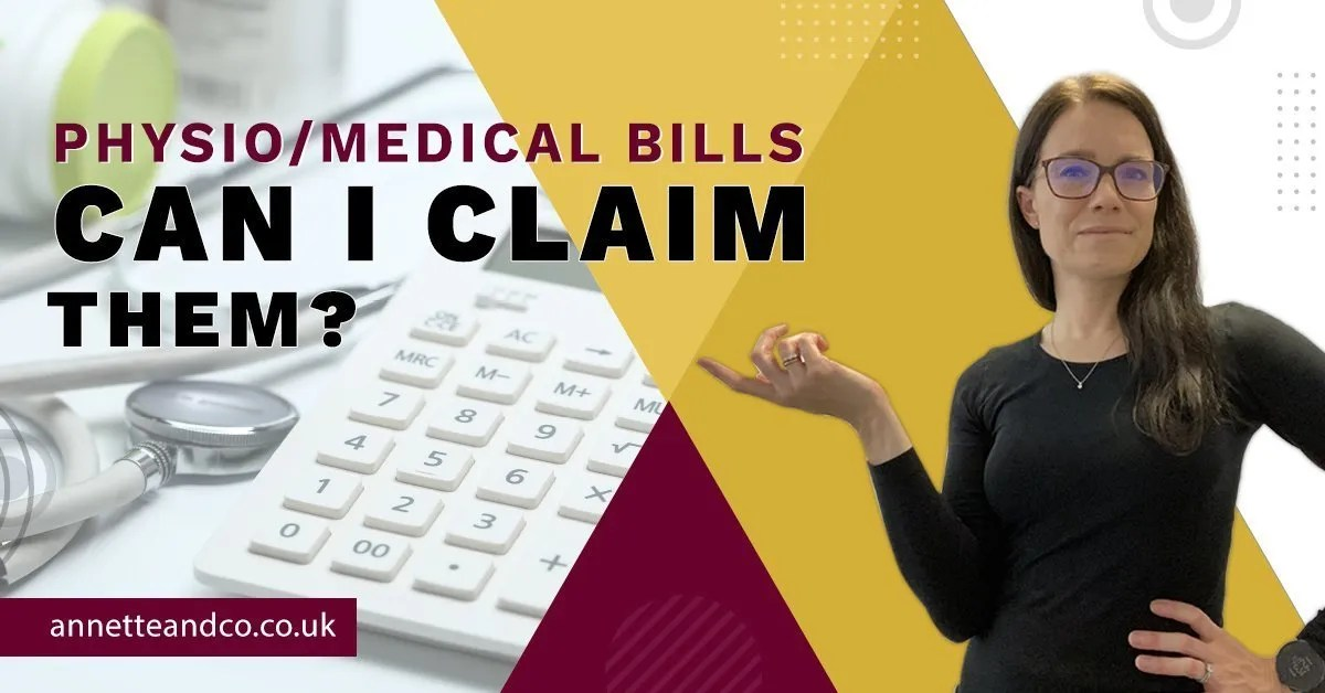 a blog featured image with a topic title about Physio/Medical Bills - Can I Claim Them?