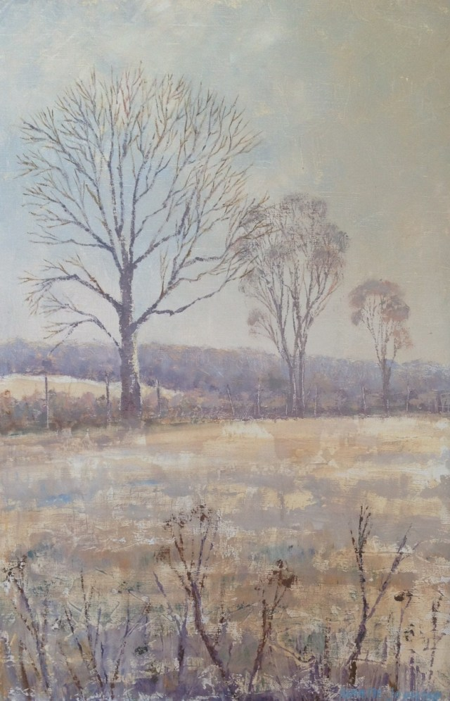 Winter trees 15x23 inches