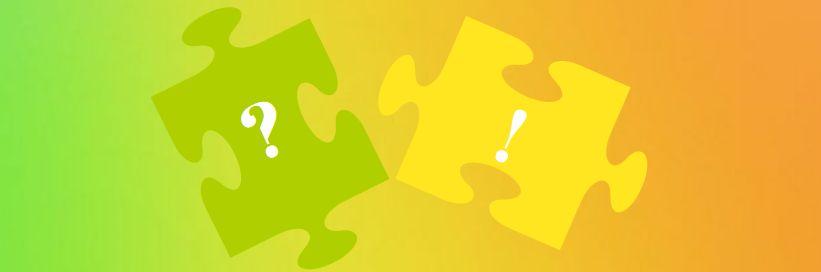 Puzzleteile im Spektrum
