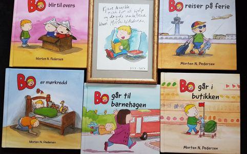 Morten N. Pedersens Bo-Bücher und eine Illustration
