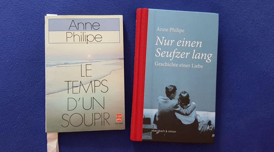 Die französische und die deutsche Audgabe von Le temps d'un soupir