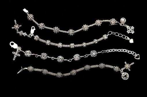 Silver prayer bracelets