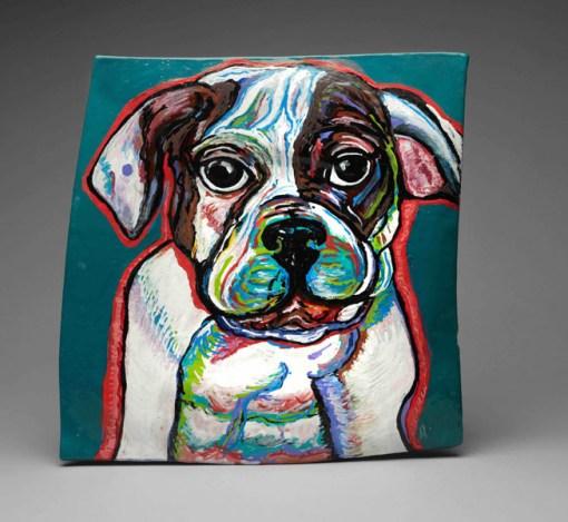 Bulldog on Ceramics