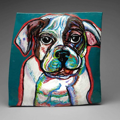 Bulldog on Ceramics