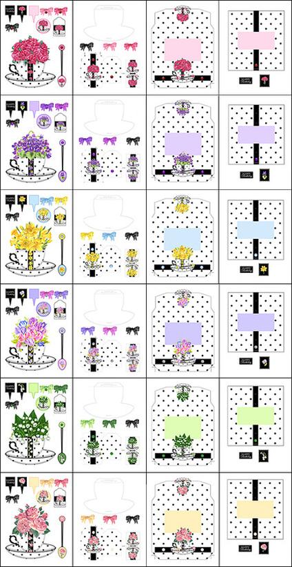 Birth Flower Cup Combo Bumper Saver ANNI ARTS CRAFTS